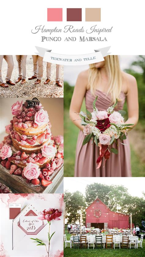 Spring Marsala Wedding Inspiration   Tidewater and Tulle