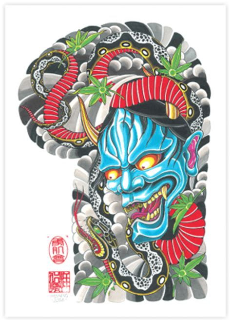 yakuza tattoo png blue hannya snake projects to try pinterest snake