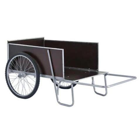 sandusky 67 in w 13 6 cu ft steel yard garden cart
