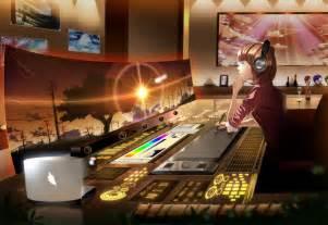 Anime Desk by Anime Screen Headphones Desk Computer Original Wallpaper