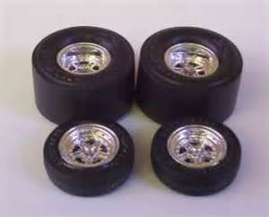 Model Car Tires And Wheels 4 Goodyear Tires 4 Cragar Ss Mag Wheels Only 1 16 Scale