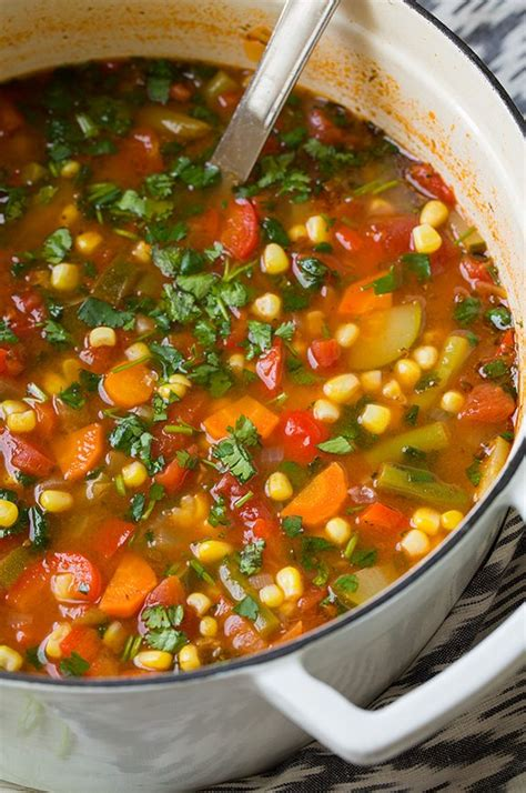 vegetables soup mexican vegetable soup cooking