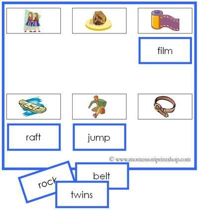 printable montessori language cards 14 best montessori blue language series images on