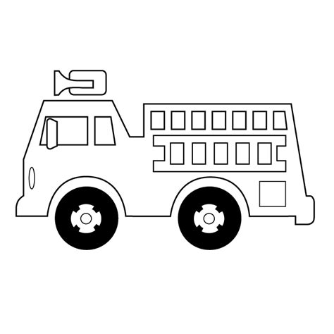 Firetruck Outline by Firetruck Picture Firetruck Coloring Page