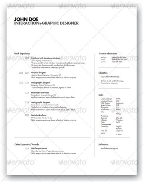 cv layout switzerland 30 modern and professional resume templates