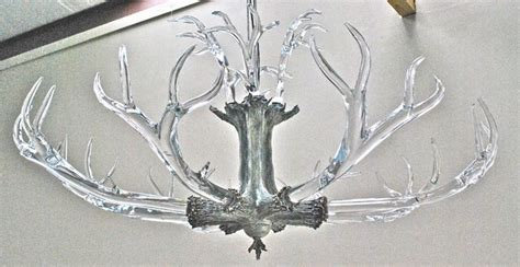 Glass Antler Chandelier Large Antler Chandelier Chandeliers By Lawson Glass