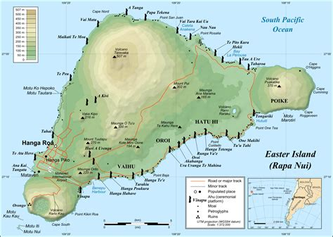 map of island easter island