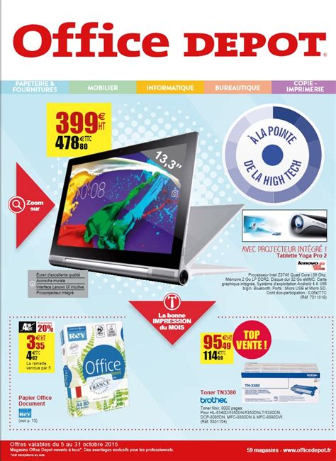 Office Depot La Catalogue Office Depot A La Pointe Octobre 2015 Catalogue Az