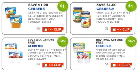 printable baby food coupons new gerber baby food printable coupons