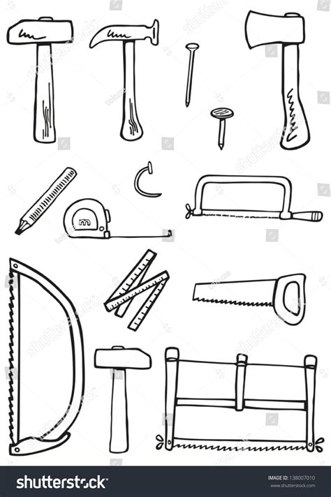 doodle create tools carpentry tools doodles kit traditional carpenter stock