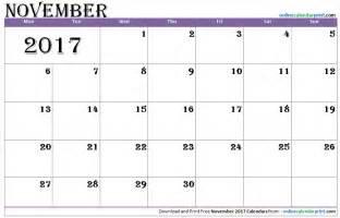 Calendar November 2017 Template November 2017 Calendar Editable 2017 Calendar Template