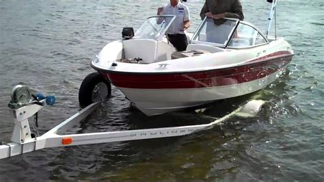 boat trailer lights in water loading boat on trailer youtube