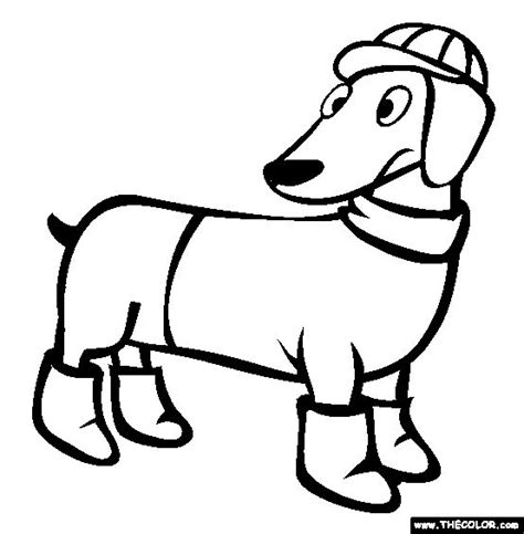 wiener dog coloring page 17 best images about dachshund coloring pages on pinterest