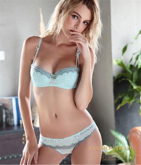 sexy women bra set ultra thin lace embroidery push up bra panty set underwear bra sets lingerie