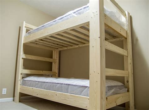 Diy Bunk Bed Plans Bunk Bed Plans 2x6 Modern Diy Wood Projects