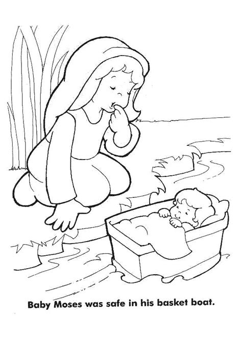 moses coloring pages preschool best 25 baby moses ideas on pinterest