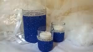 Vases For Wedding Royal Blue Glitter Vase Wedding Centerpiece Bridal Shower