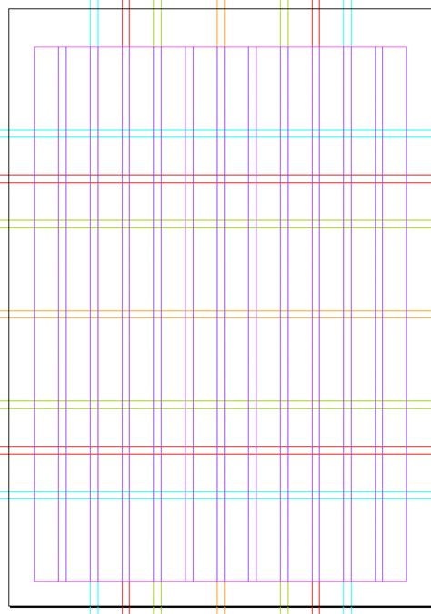 grid layout for magazine karl gerstner designed this grid for his work on the