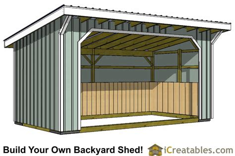 run in shed plans building your own barn icreatables