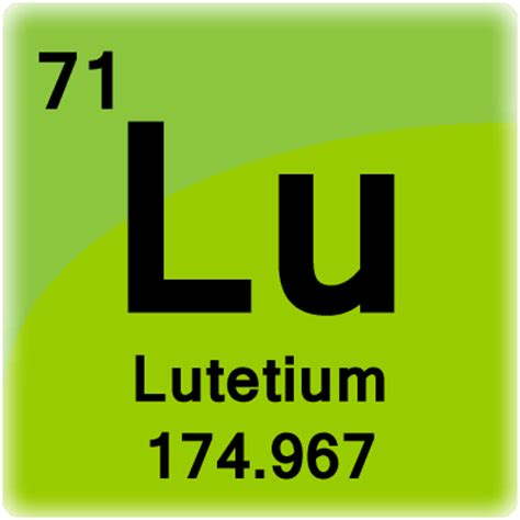 Lu Periodic Table by Lutetium Element Cell Science Notes And Projects
