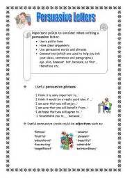 Writing worksheets gt persuasive writing