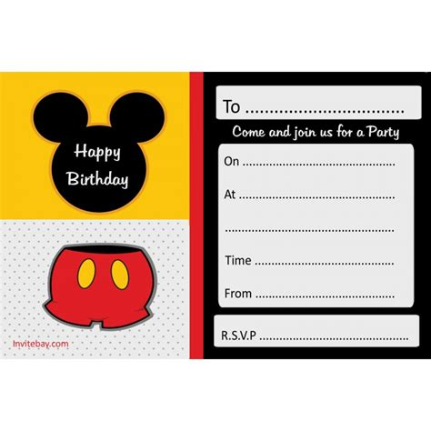free mickey mouse invitation template mickey mouse printables cliparts co