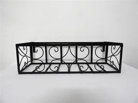 Planters For Wrought Iron Railings by Wrought Iron Railing Planter With Small C Pattern Grow And Glow Gardens