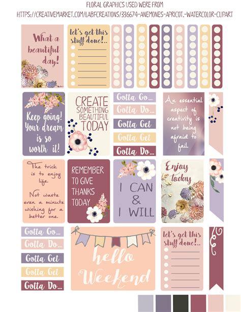 planner printable freebies iloveminialbums new summer freebie planner stickers and