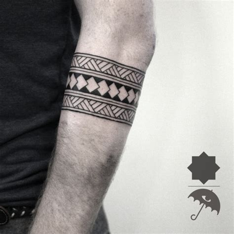 tattoo geometric band tribal arm band line work details geometric tattoo