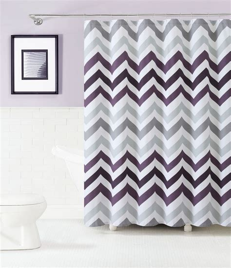 gray and white chevron shower curtain 100 cotton fabric shower curtain purple gray and white