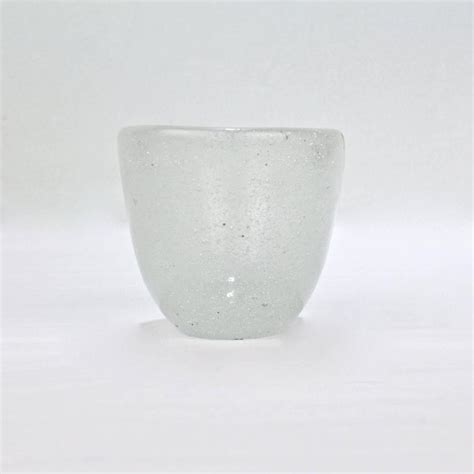 Carlo Vase by White Pulegoso Glass Vase By Carlo Scarpa For Venini For