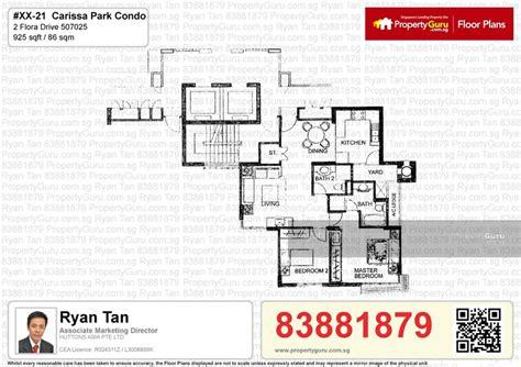 carissa park floor plan carissa park condo 2 flora drive 2 bedrooms 925 sqft