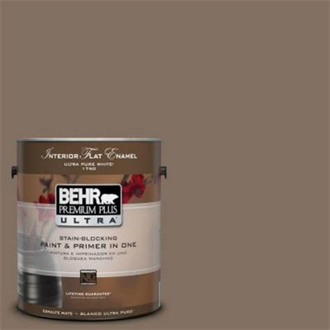 behr premium plus ultra 1 gal ul160 21 mocha latte interior flat enamel paint 175301 the
