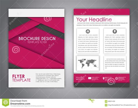 material design leaflet brochures in the style of the material design stock vector