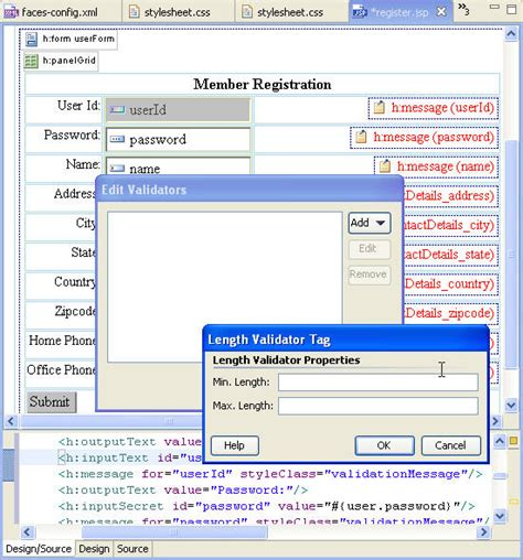 design jsf application jsf tutorial 3 design views