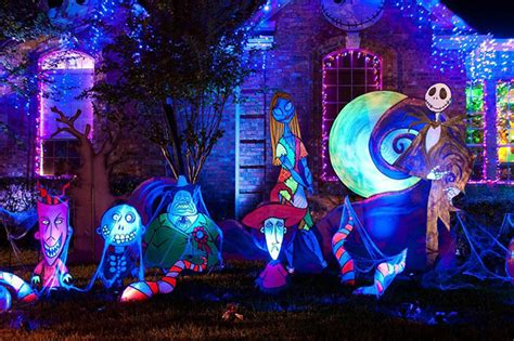 nightmare before christmas christmas out door decoration decorations and lights to amaze and inspire mr costumes