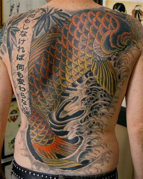 back body tattoo design koi fish designs for on back tattoos