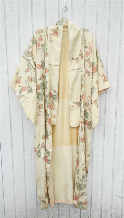 vintage kimono robe vintage kimono robe japanese authentic length kimono
