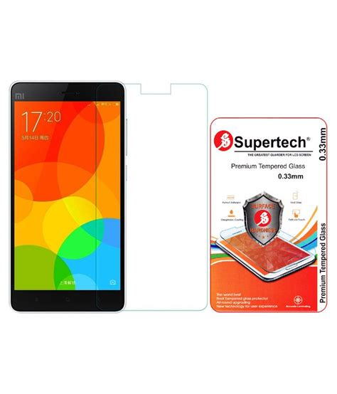 Xiaomi Mi4i Tempered Glass Screen Protector supertech tempered glass screen protector for xiaomi mi4i