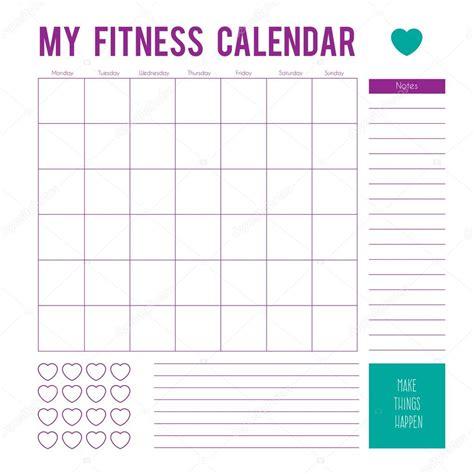 planning out the week fitness geekiness fitness calendar plan for a week calendar page vector