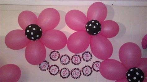Pink And Black Polka Dot Baby Shower Decorations by Black And White Polka Dots And Damask With Fuschia