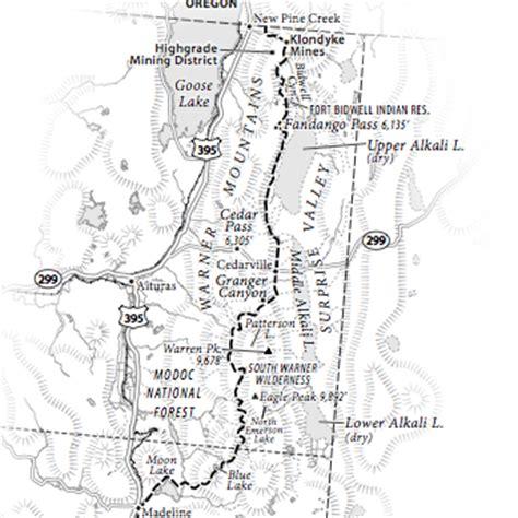 california hiking map kickstarter warner mountains california hiking