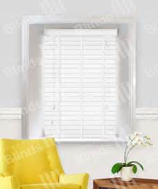 Blind Deals Uk White Wood Venetian Blind With Tape 50mm Slats Made To
