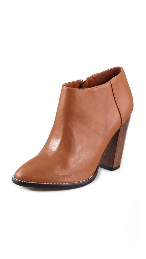 brown high heel booties elizabeth and shane high heel booties in brown