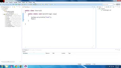 eclipse tutorial java youtube java tutorial 1 hello java getting started with eclipse