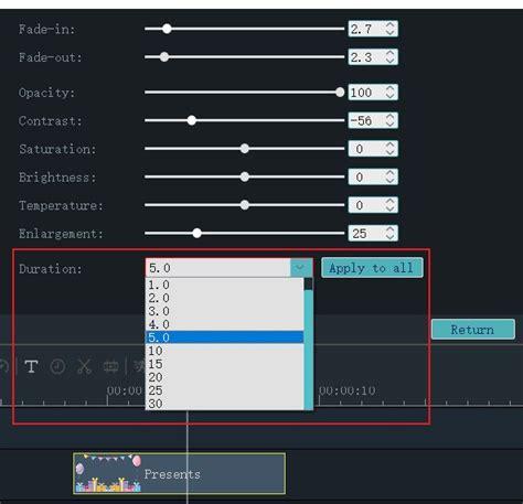 adjust duration  overlays  windows  maker
