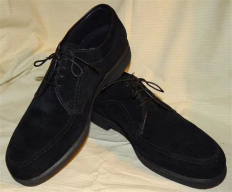 hush puppies suede shoes hush puppies black suede leather casual oxford footwear used shoes 8 1 2 w