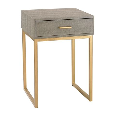 grey and gold desk titan lighting gray and gold storage side table tn 892702