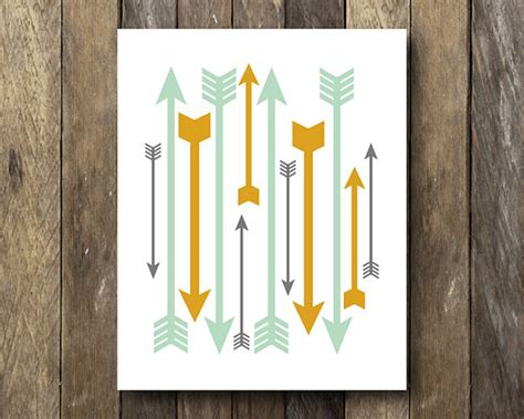 arrow print instant tribal home decor