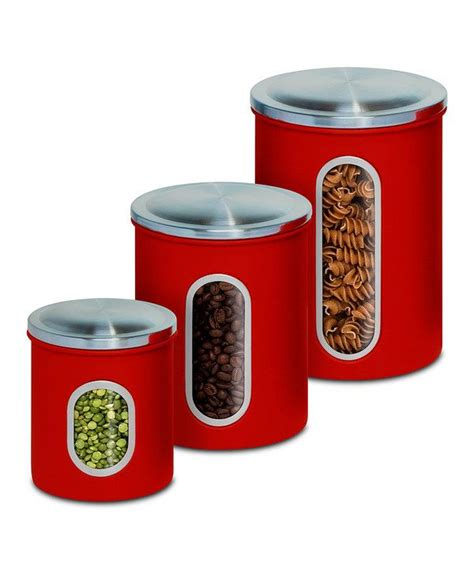 red canisters for kitchen love this set kitchen stuff i need pinterest kitchen